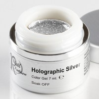 Soak Off Gel Holographic Silver 7 ml.