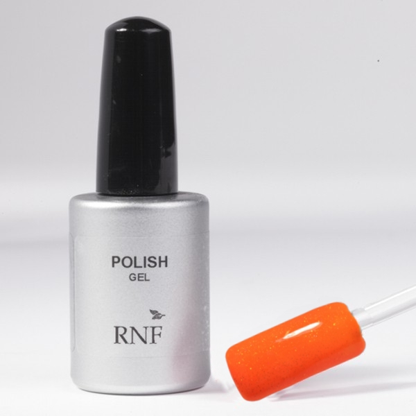 Polish Gel Fluo Glitter Tangerine 15 ml.