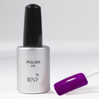 Polish Gel Fluo Glitter Violet 15 ml.